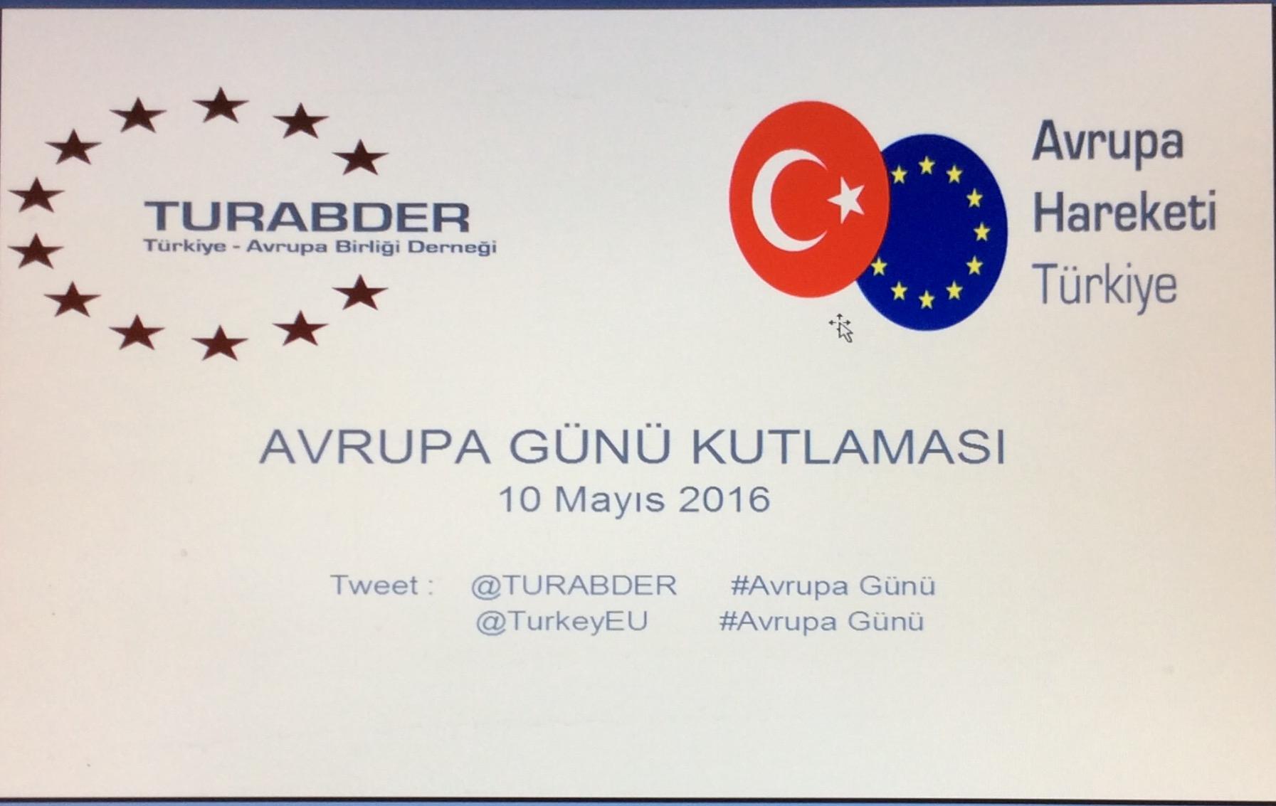 Avrupa Gününü 10 Mayıs'ta kutluyoruz