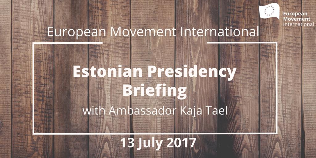 Estonya'nın AB Konsey Başkanlığı ile ilgili toplantı